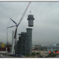 Camis Electric Mersin-2 Plant. Installation of Steel Stack