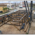 Camis Electric Mersin-2 Plant. Pre-assembly of Stair Towers