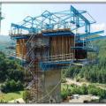Podkova-Makaza Boundary Road, Bulgaria. Viaduct Construction